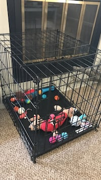 black metal folding dog crate Colorado Springs, 80918
