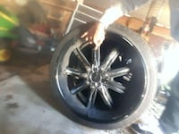 22inch rims black with chrome inserts/tires are new Dover, 19904