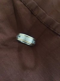Versace Greek Engraved Silver/Gold Size 8