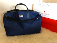 blue and black leather tote bag Toronto, M9A 4X9