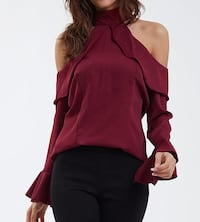 Cold Shoulder Chiffon Blouse M/L Burnaby