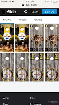 Custom made Steelers cornhole sets York, 17408