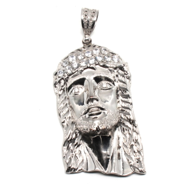 Sterling Silver Jesus Head