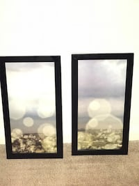 Two black wooden framed painting of glare in the sky Greensboro, 27407