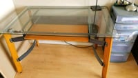 rectangular glass top table with black metal  Chilliwack, V2P 2Y9