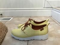 Pair of yellow  leather loafers size 7.5-8 Oakville, L6M 3N5