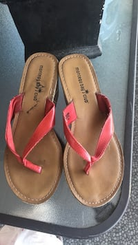 pair of brown-and-pink leather sandals Surrey, V3W