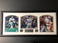 Troy Aikman, Emmitt Smith, and Michael Irvin framed Dallas Cowboys poster