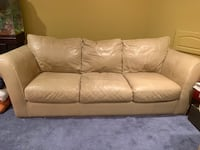 Pair of leather sofas New Haven