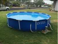 Intex 12ft X 30in Metal Frame Pool Set with Filter Pump| SKU# 62-129 Santa Ana