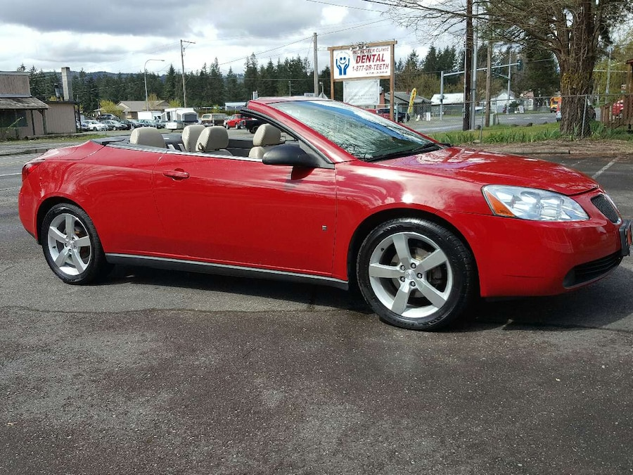 used 2007 pontiac g6 gt convertible bad credit ok in olympia. Black Bedroom Furniture Sets. Home Design Ideas