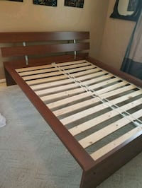 IKEA Hopen Queen Bed frame and mattress    Falls Church, 22042