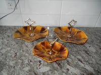 (x3) Blue Mountain Pottery Serving Dishes  Morinville