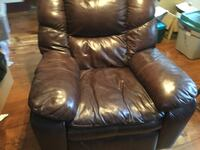 brown leather recliner sofa chair Plymouth, 03264