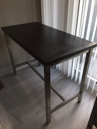 Island Counter Table for Kitchen Black Brown Solid Wood with Metal Base  Toronto, M4R 2C5