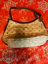 monogrammed brown Coach leather hobo bag Irving, 75062