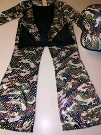black, green, and white floral pants Thousand Oaks, 91360