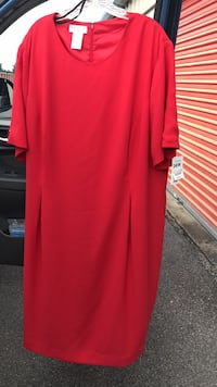 NEW. Women's Red dress. Size 26W... washable Winchester, 22603