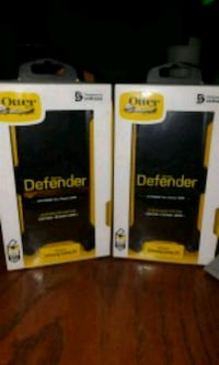 two black and yellow Otterbox samsung galaxy s9 Gretna, 70053