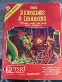 Dungeons and Dragons basic rules, 1980 Edition! Chantilly