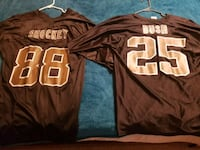 brown and white NFL jersey Gonzales, 70737