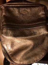 Women's girls coach New York leather small gold backpack Germantown