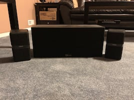 Home theater speakers. Center channel and rears.