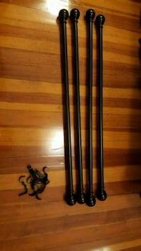Expresso- colored extendable curtain rods