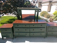 Dresser set with two end tables and Mirror Colorado Springs, 80925