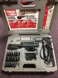 Black and gray porter cable profile sander kit with case Methuen, 01844