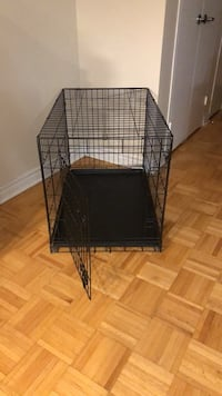 Black metal folding dog crate Toronto, M2J 1L9