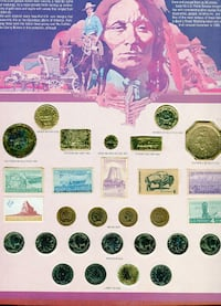 The History of the West in Coins and Stamps Display.  Haverhill