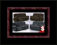 Grey or chocolate recliner set 46 km