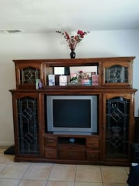 Solid Oak China Cabinet  still in Good Conditio Rancho Cordova