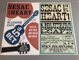 2 Bluebird Cafe Event Posters - sogned