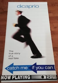 Catch Me If You Can Original Vinyl Movie Poster Banner Hamilton