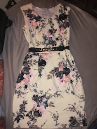 White and black floral spaghetti strap dress Tucson, 85746