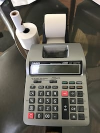 Gray and black casio hr-100tm thermal printer WILL NEGOTIATE