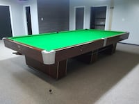 Green and brown pool table Innisfail, T4G 1P8