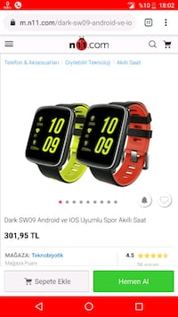 Dark Smart Watch SW09 Akıllı saat