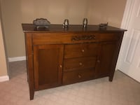 Solid wood credenza. Barely used Tysons