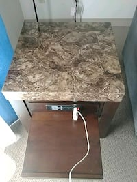rectangular brown marble top table Regina, S4S 6X7