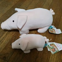 Set of 2 Plush Pig Dolls (Mom and Baby) Queens, 11103