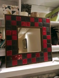 Handmade ceramic mirror