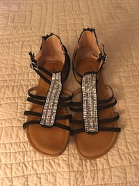 Brown-and-black leather sandals Bryant, 72022