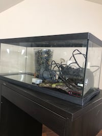 black framed clear glass fish tank Atlanta, 30309