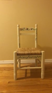 little girls chair cream colored with flowers Wantagh, 11793