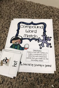 Compound word match game