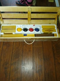 Old School sports croquet 4 player set in wooden b