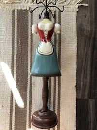 Cute wooden hand painted jewelry stand from Europe Houston, 77042